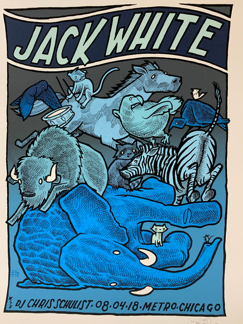 Jack White - 2018 Jay Ryan poster Chicago The Metro S/N