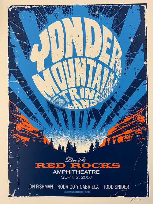 Yonder Mountain String Band - 2007 Methane poster Red Rocks Morrison, CO