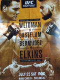 UFC Fight Night Poster - Weidman vs Gastelum Long Island, NY