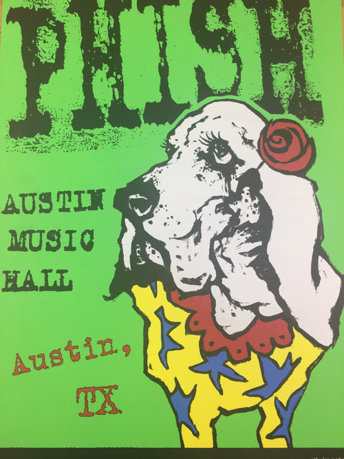 Phish - 1995 Les Seifer Poster Austin, TX Austin Music Hall