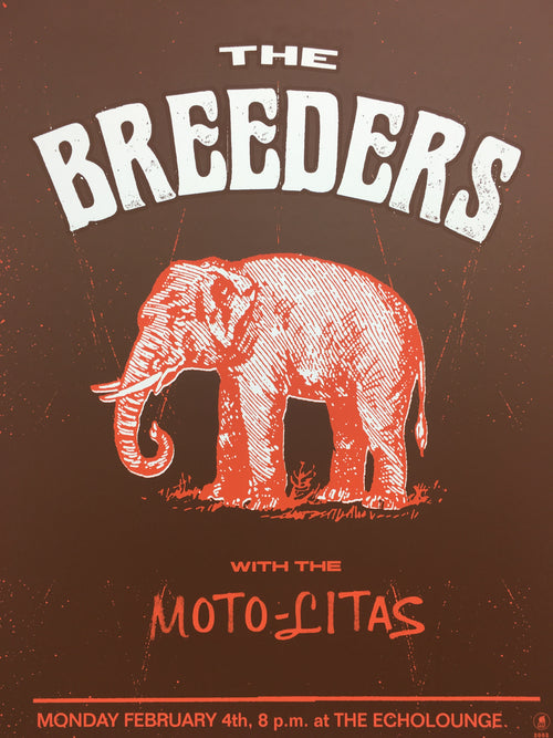 The Breeders - 2002 Methane Studios poster Atlanta, GA Echo Lounge