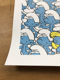 The Jerk Way of Life - 2014 Jerkface poster street art Smurfs