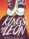 Kings of Leon - 2017 Joshua Budich poster Dallas, TX Starpress Pavilion