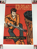 Bob Dylan - 2016 Scrojo Poster San Diego, CA Humphrey's by the Bay