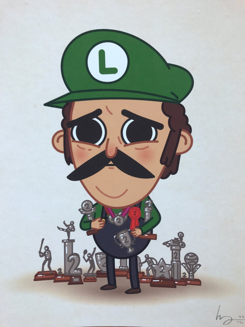 First Loser - 2016 Mike Mitchell poster Luigi, Mario Brothers