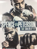 Spence vs. Peterson Championship Boxing Poster