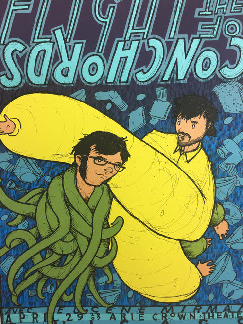 Flight of the Conchords - 2009 Jay Ryan poster Chicago, IL Arie Crown Theater N2