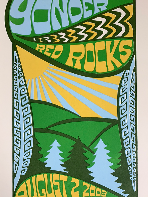Yonder Mountain String Band - 2008 Tripp poster Red Rocks Morrison, CO