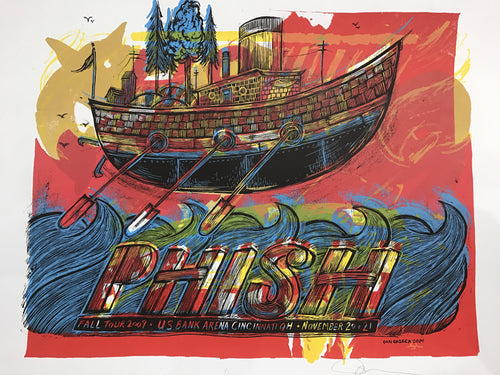 Phish - 2009 Dan Grzeca poster Cincinnati, OH US Bank Arena TEST