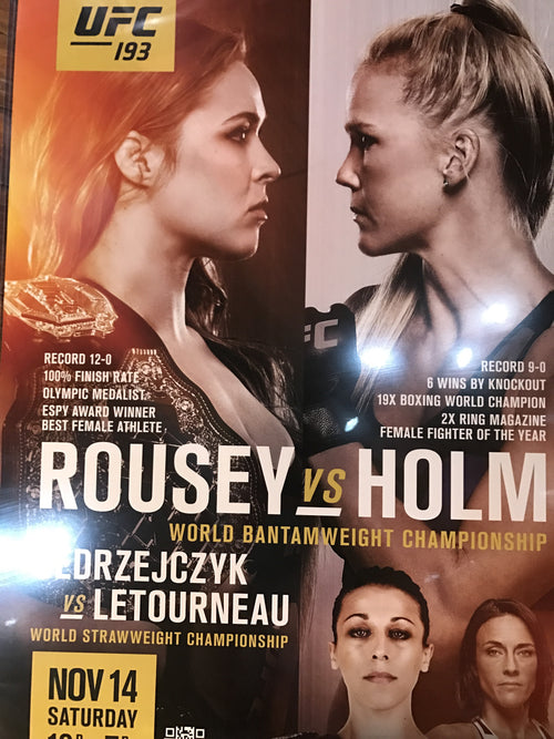 UFC 193 poster Ronda Rousey vs. Holly Holm PPV