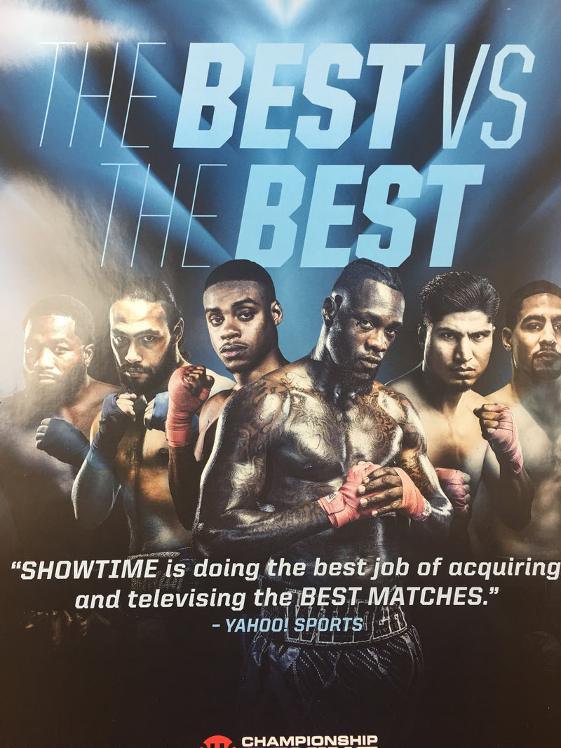 Boxing - Showtime Poster The Best vs The Best Championship
