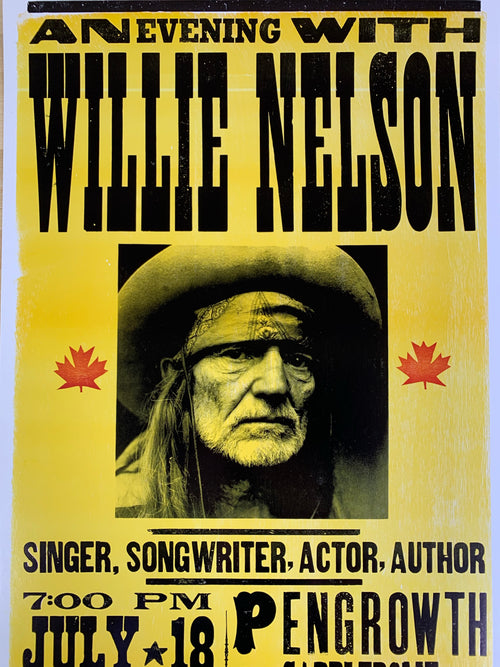 Willie Nelson - 2005 Franks Brothers poster Calgary, Alberta