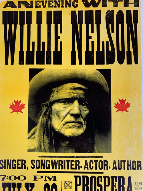 Willie Nelson - 2005 Franks Brothers poster Kelowna, BC