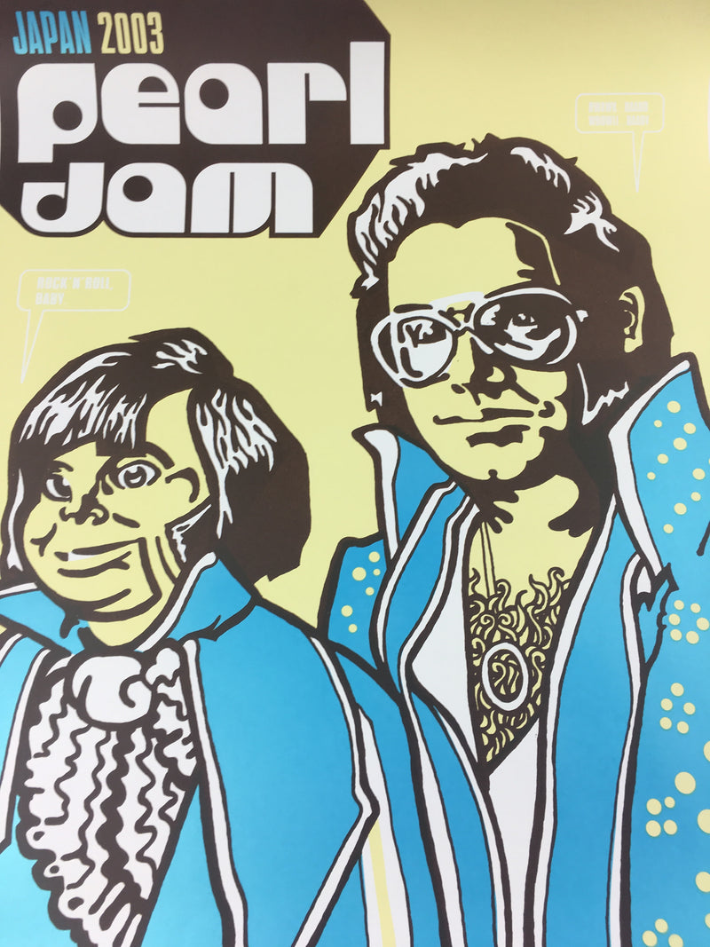 Pearl Jam - 2003 Ames Design Poster Japan Peanut Butter & Banana Sandwiches Tour