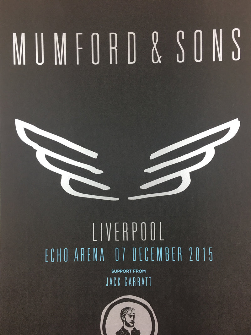 Mumford & Sons - 2015 Poster Liverpool, England, UK Echo Arena