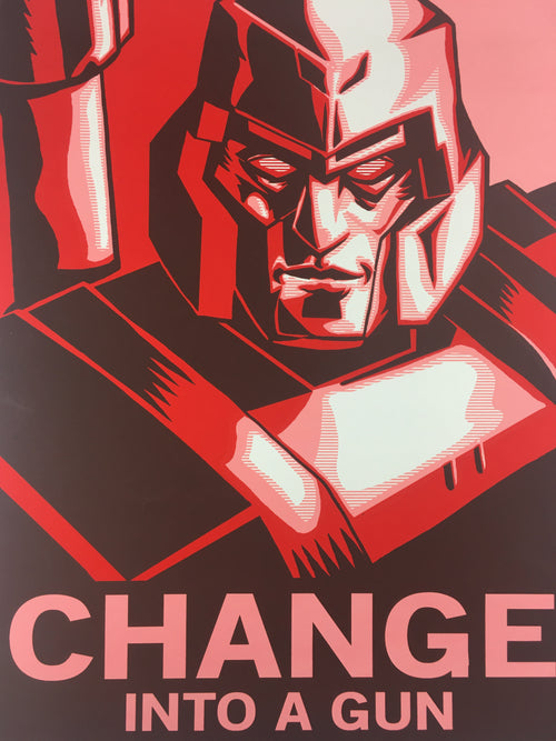 Change Into A Gun - 2009 Tim Doyle Poster Art Print