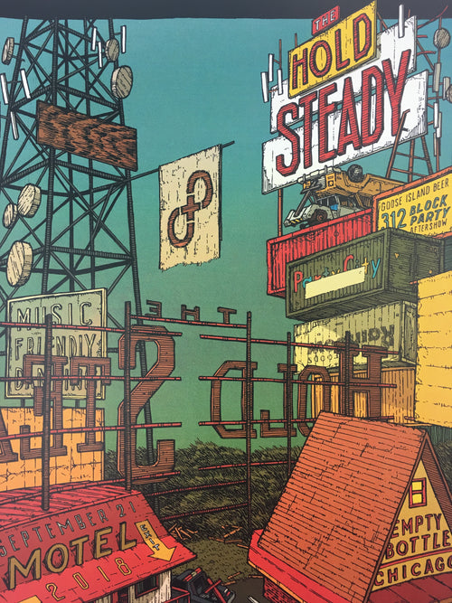 The Hold Steady - 2018 Landland Poster Chicago, IL Empty Bottle