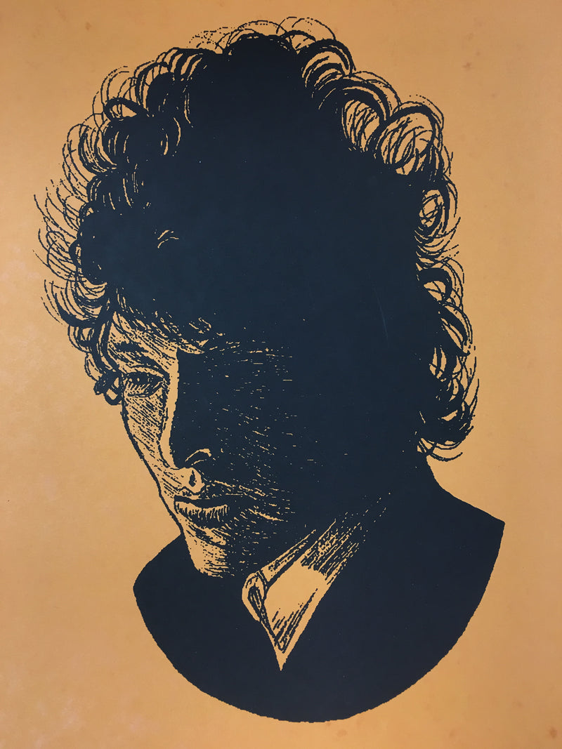 Bob Dylan The Rolling Stone - 2014 Brian Methe Art Print Orange Variant