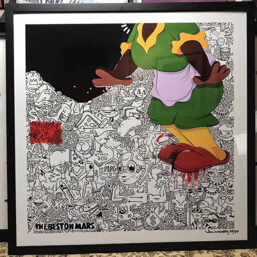 But I Still Love - Hebru Brantley 2013 limited edition fine art print S/N FRAMED