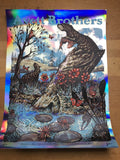 The Avett Brothers - 2017 Zeb Love poster Charleston WV FOIL x/19