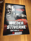 Boxing - 2017 Poster Wilder vs Stiverne World Heavyweight Championship
