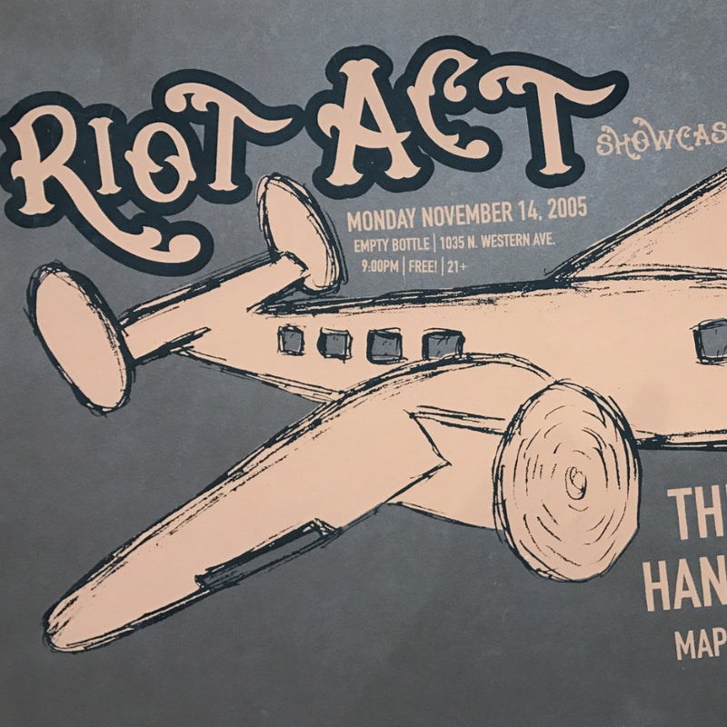 Riot Act - 2005 poster Empty Bottle Chicago, IL