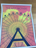 The Avett Brothers - 2017 Kyle Baker poster Lake Buena Vista, House of Blues Orl