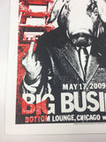 Big Business - 2009 Dan MacAdam Crosshair Poster Chicago, IL Bottom Lounge