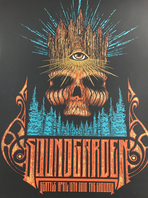 Soundgarden - 2010 Brad Klausen poster Showbox, Seattle, WA