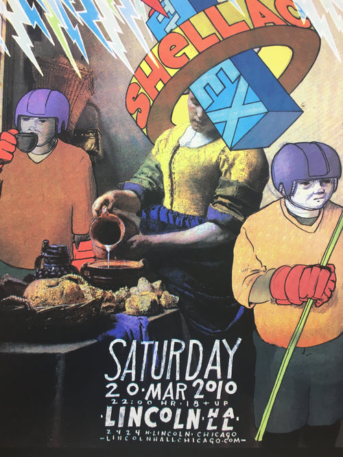 Shellac - 2010 Jay Ryan poster Chicago, IL Lincoln Hall