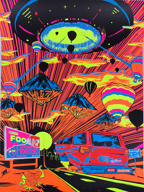 Foo Fighters - 2020 Jason Malmberg poster Albuquerque, NM