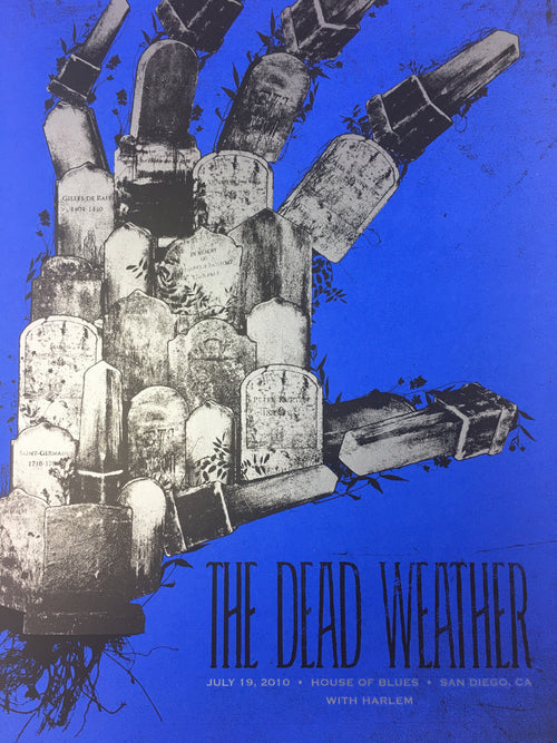 The Dead Weather - 2010 Todd Slater Poster San Diego, CA House of Blues