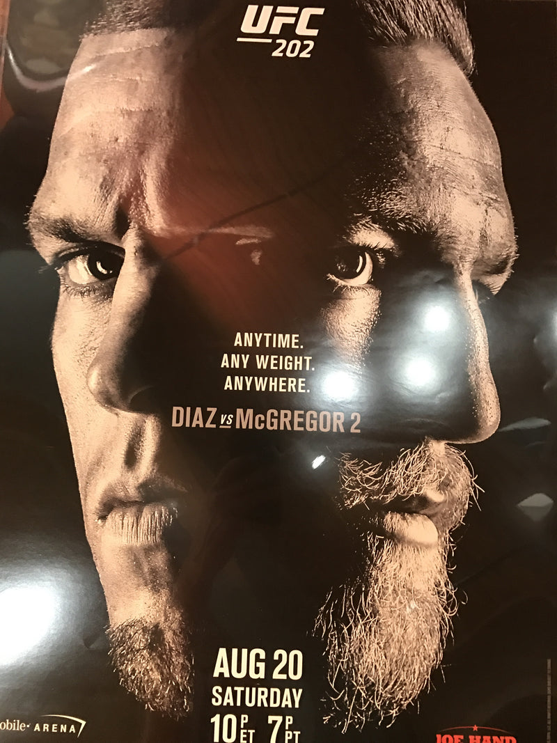 UFC 202 poster Conor McGregor vs. Nate Diaz T Mobile Arena PPV