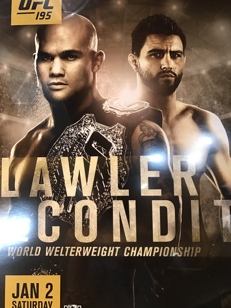 UFC 195 poster Lawler vs. Condit MGM PPV
