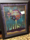 Phish - 2011 DKNG poster Hollywood CA Hollywood Bowl FRAMED