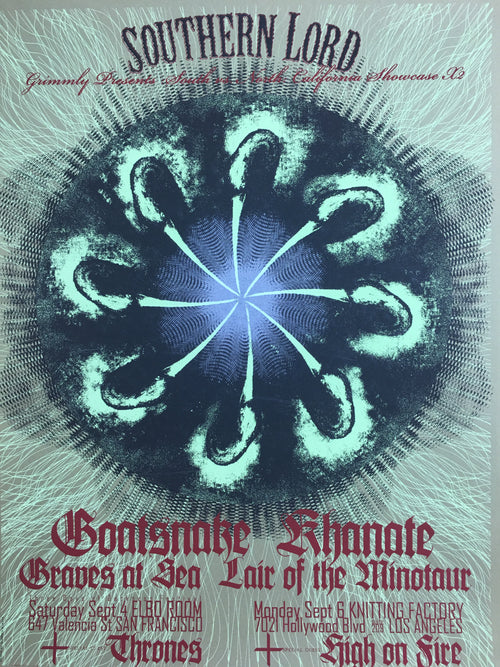 Goatsnake - 2005 Stephen Kasner poster Hollywood, CA Knitting Factory