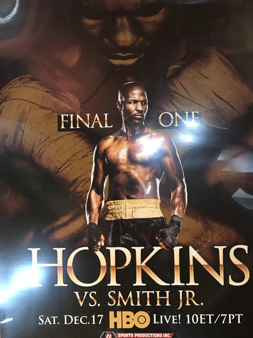 Boxing poster Hopkins vs. Smith Jr. HBO PPV