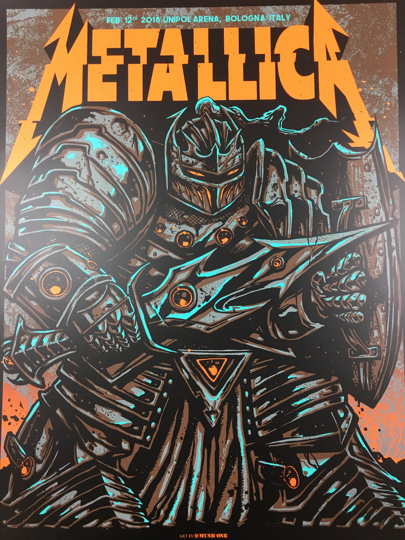 Metallica - 2018 Munk One Poster Bologna, IT Unipol Arena 2/12