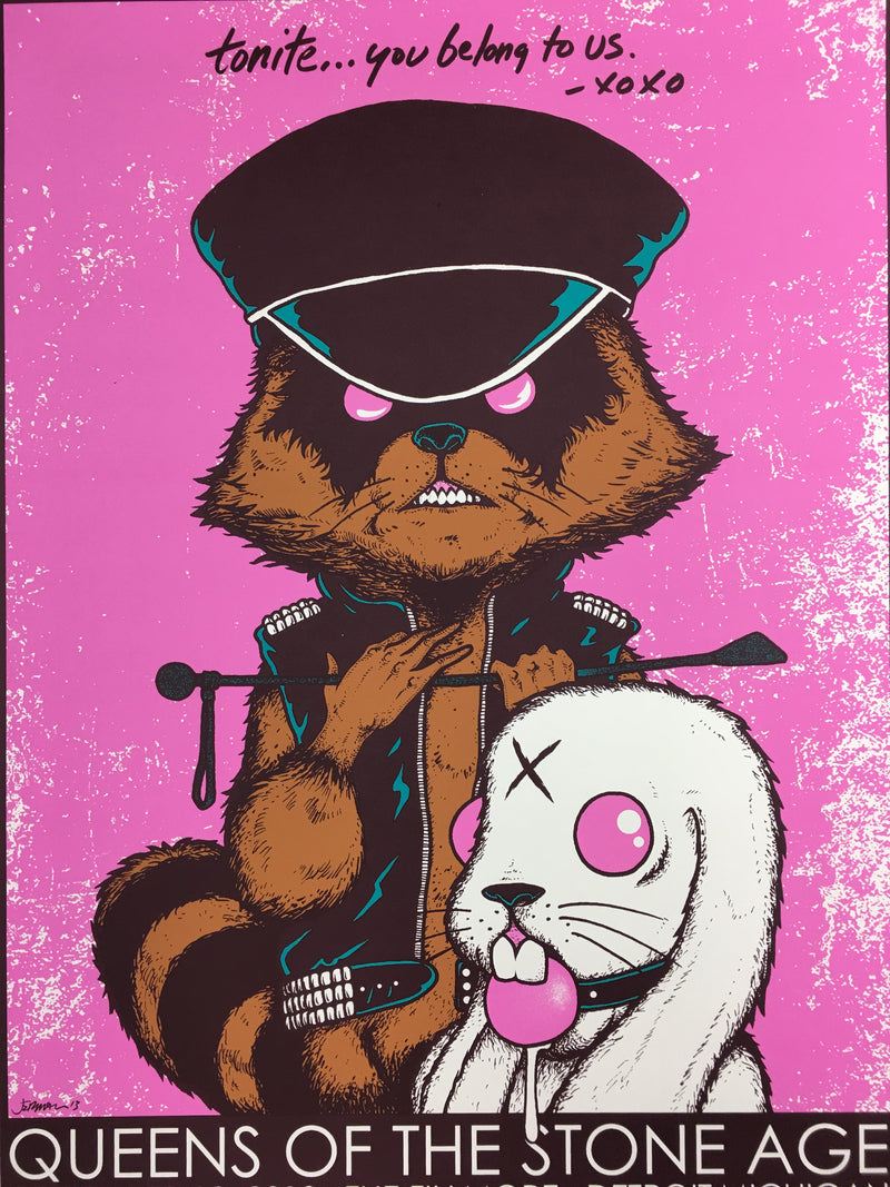Queens of the Stone Age - 2013 Jermaine Rogers Poster Detroit Fillmore