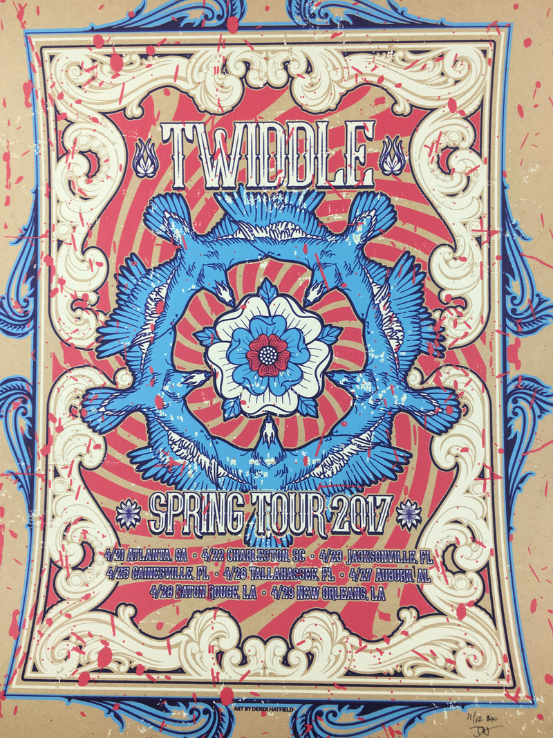 Twiddle - 2017 Derek Hatfield Poster Spring Tour
