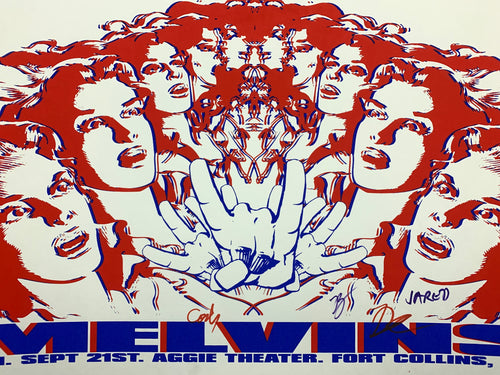 Melvins - 2007 8ball poster Fort Collins Colorado Aggie Theatre Band Signed