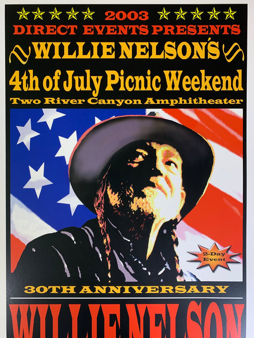 Willie Nelson - 2003 poster Spicewood, Texas Two River Canyon