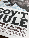 Gov't Mule - 2016 Zeb Love poster Beacon Theatre New York, NY