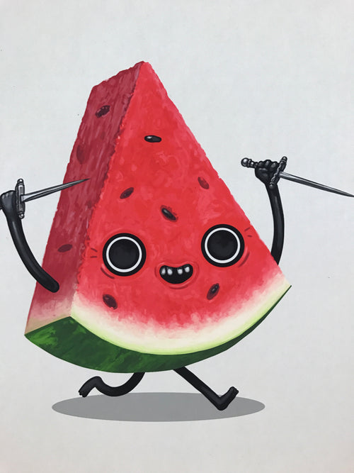 Stiletto - 2017 Mike Mitchell poster print watermelon Food Dudes