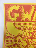 Gwar - 1990 Frank Kozik Poster Houston, TX The Unicorn