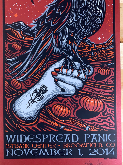Widespread Panic - 2014 Jeff Wood poster Broomfield, CO 11/1 1st Bank Center