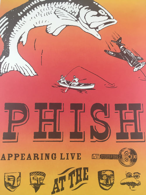 Phish - 1996 Modern Dog Poster Plattsburgh, NY Clifford Ball Airbase
