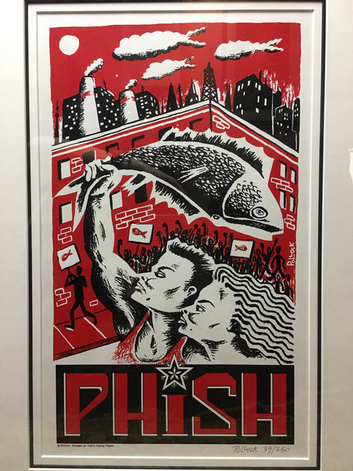 Phish - 1997 Jim Pollock poster Art of Modern Rock series, Framed