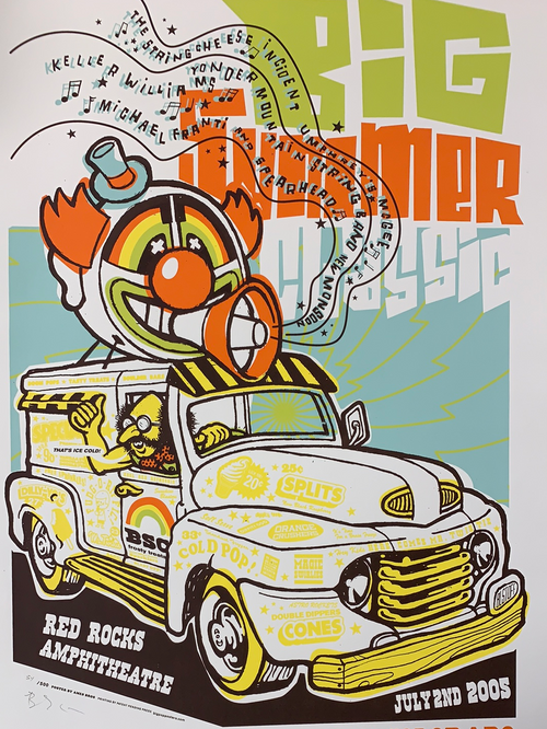 Big Summer Classic - 2005 Ames Brothers poster Morrison, CO Red Rocks