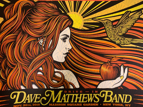 Dave Matthews Band - 2020 Todd Slater poster New York Madison Square Garden